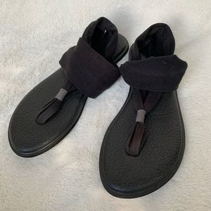 Sanuk Yoga Sling Black Sandals